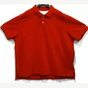 Lands End Polo Shirt Traditional Fit Cotton Golf